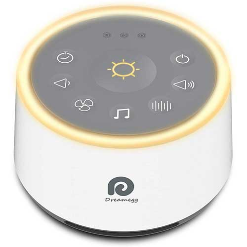 2. Dreamegg D1 Sound Machine - White Noise Machine with Baby Night Light