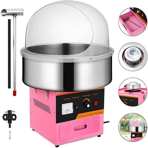 3. Happybuy Electric Candy Floss Maker With Cover 20.5 Inch Cotton Candy Machine 1030W