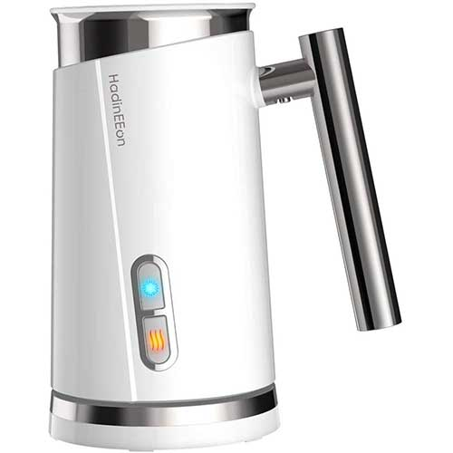 8. HadinEEon Milk Frother, Electric Milk Frother& Steamer