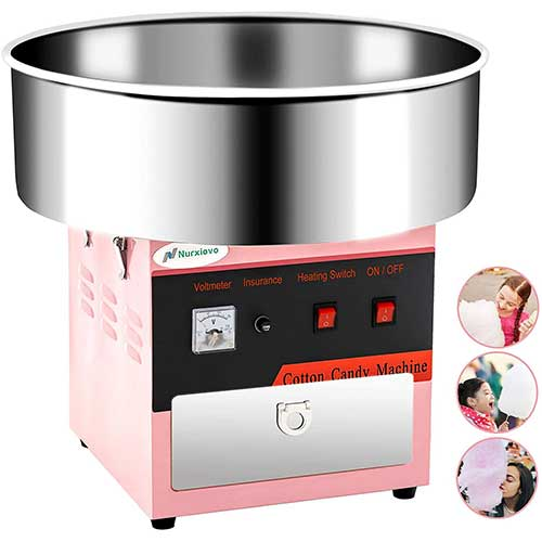 2. Cotton Candy Machine -Nurxiovo 21 Inch Tabletop Electric Large Commercial Cotton Candy Maker