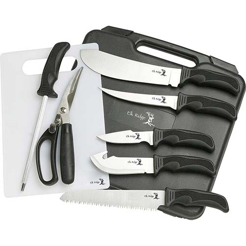 1. Elk Ridge - Outdoors Hunting Knife Set - Game Processing Kit