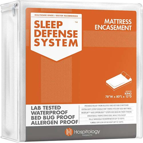 6. HOSPITOLOGY PRODUCTS Sleep Defense System - Zippered Mattress Encasement