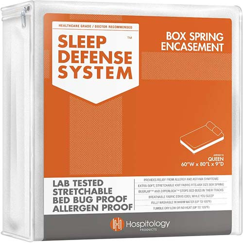 2. HOSPITOLOGY PRODUCTS Sleep Defense System - Zippered Box Spring Encasement