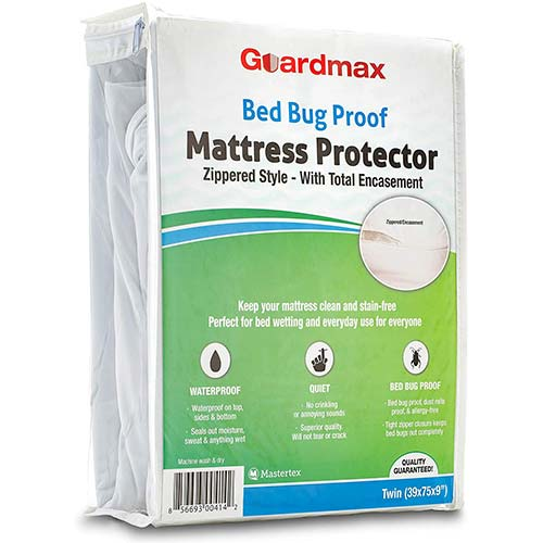 9. Guardmax Bed Bug Mattress Protector Cover Zippered | 100% Waterproof Encasement