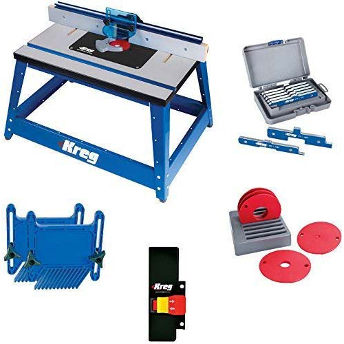 8. Kreg PRS2100 Bench Top Router Table with Essential Accessories