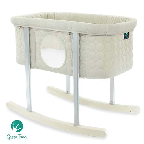 10. Baby Bassinet Cradle Includes Gentle Rocking Feature