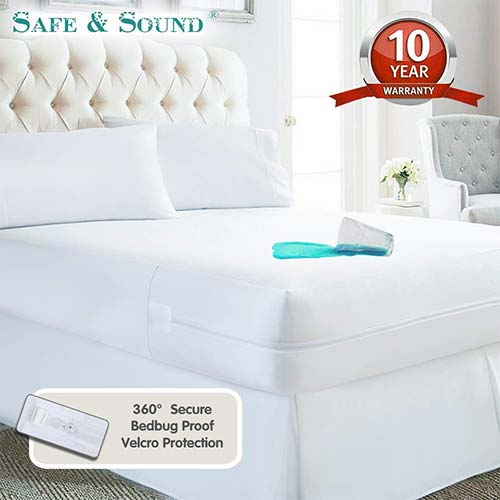 10. Waterproof Zippered Mattress Encasement, Premium Breathable Mattress Cover, Vinyl Free Mattress Protector Twin Size