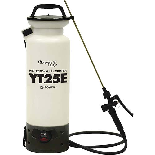 3. YT25E Battery Sprayer - 12V Lithium-ion with Viton Seals & O-Ring, Brass Wand & Nozzle & Shoulder Strap