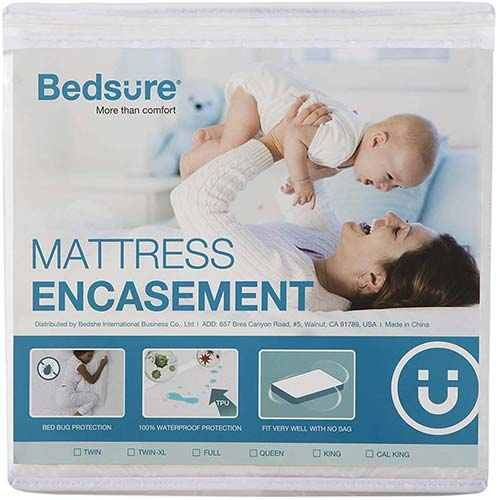 8. Bedsure Zippered Mattress Encasement Twin XL/Twin Extra Long Size (9-12 inches Deep), 100% Waterproof & Deep Pocket Mattress Cover