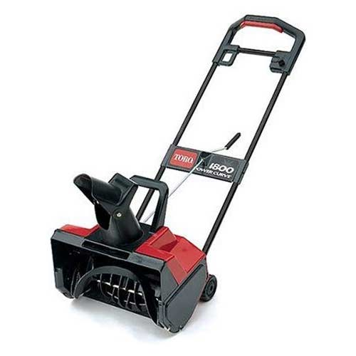 8. Toro 1800 18-Inch 12 Amp Electric Curve Snow Thrower #38025