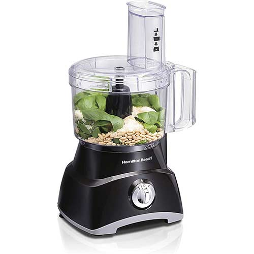 10. Hamilton Beach 8-Cup Compact Food Processor & Vegetable Chopper