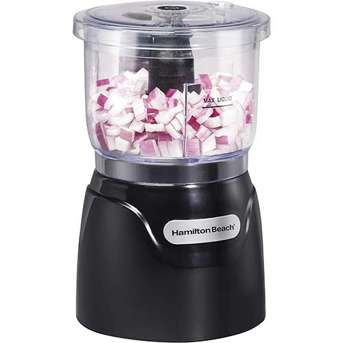 3. Hamilton Beach Mini 3-Cup Food Processor & Vegetable Chopper, (72850)