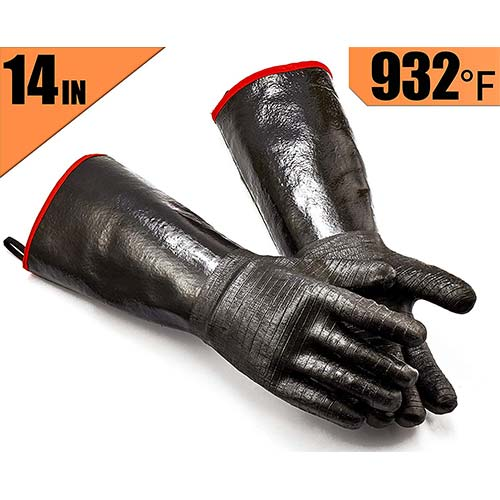 3. RAPICCA BBQ Gloves -Smoker, Grill, Cooking Barbecue Gloves
