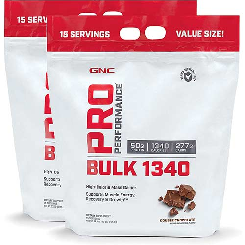 10. GNC Pro Performance Bulk 1340 - Double Chocolate - Twin Pack