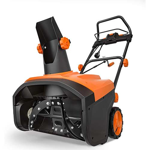 7. TACKLIFE Snow Blower, 15 Amp Electric Snow Thrower