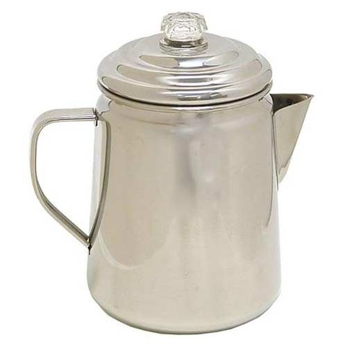 2. Coleman Stainless Steel Percolator