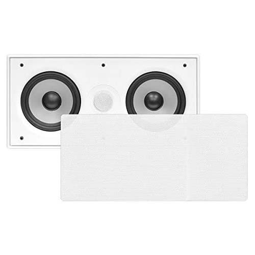 6. Pyle PDIWCS56 In-Wall / In-Ceiling Dual 5.25-Inch Center Channel Sound System