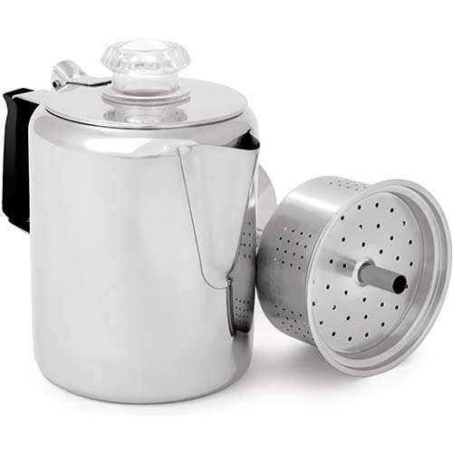 5. GSI Outdoors Glacier Stainless Coffee Percolator Cup