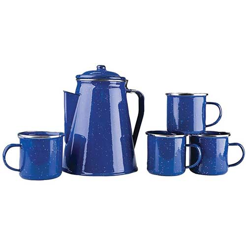 4. Stansport Enamel Percolator Mugs