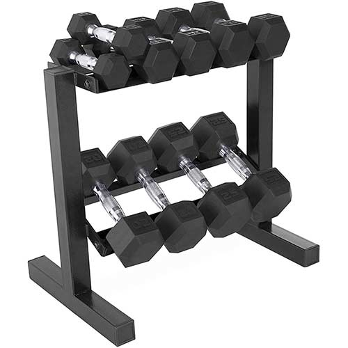 10. CAP Barbell Hex Dumbbell 150-Pound Weight Set