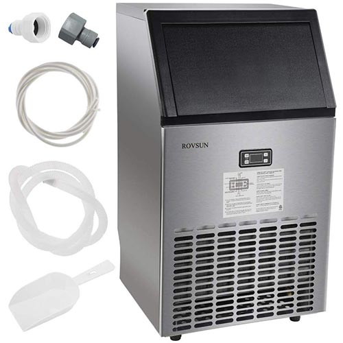 9. ROVSUN Commercial Ice Maker Automatic Built-In Stainless Steel Under counter