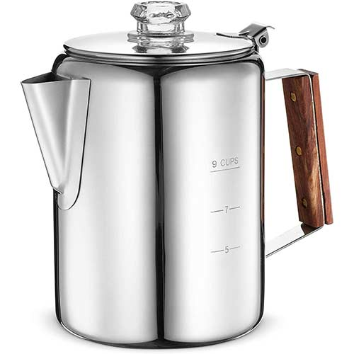 3. Eurolux Percolator Coffee Maker Pot