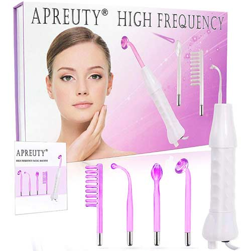 7. High Frequency Facial Machine, APREUTY Portable Handheld High Frequency Device Violet Ray Argon Acne