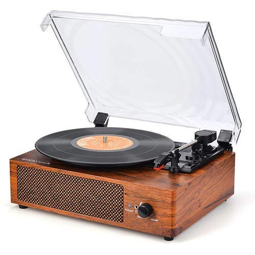 6. Record Player Turntable for Vinyl Records 3 Speed Vinyl Record Player