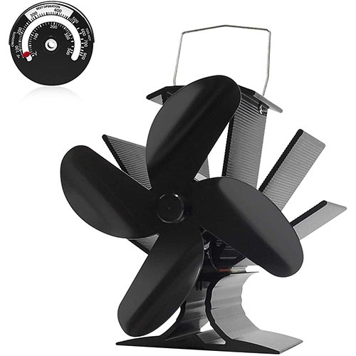 9. Signstek Heat Powered Stove Fan for Wood/Log Burner/Fireplace