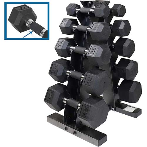 2. CAP Barbell PVC-Coated Hex Dumbbell Pairs Set