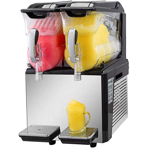7. VBENLEM 110V Slushy Machine 20L Double Bowl Slush Frozen Drink Machine