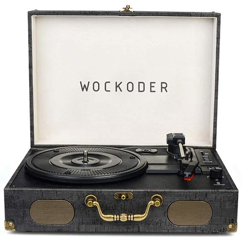 4. Turntable Record Player Portable Wireless 3 Stereo Speed Vinyl Record Player