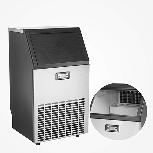 8. KUPPET Commercial Ice Maker, Under Counter/Freestanding Automatic Ice Machine