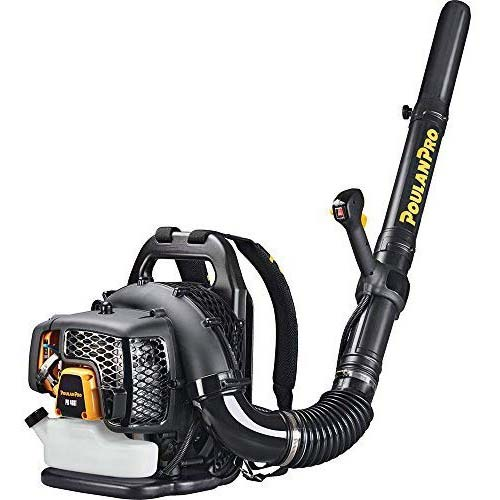 9. Poulan Pro PR48BT, 48cc 2-Cycle Gas 475 CFM 200 MPH Backpack Leaf Blower