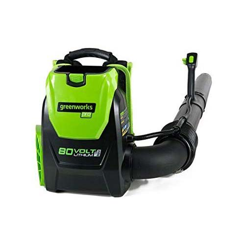 4. Greenworks 80V 145MPH - 580CFM Cordless Backpack Leaf Blower