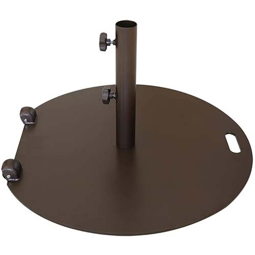 8. Abba Patio 55 lb. Steel Market Patio Umbrella Base Stand