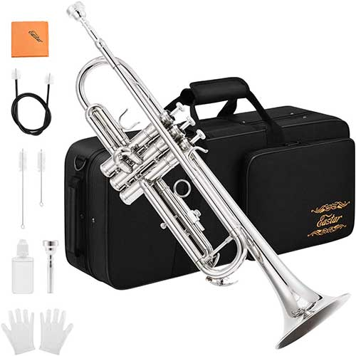 5. Eastar ETR-380N Trumpet Standard Bb Nickel Trumpet Set