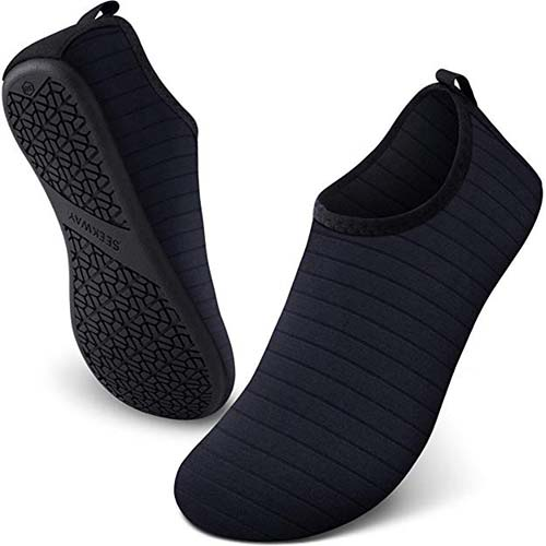 6. SEEKWAY Women's and Men's Water Shoes Barefoot Quick-Dry Aqua Socks Slip-on