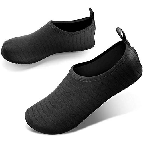 4. JOTO Water Shoes for Women Men Kids, Barefoot Quick-Dry Aqua Water Socks Slip-on Swim Beach Shoes