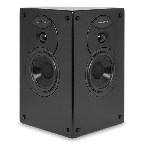 9. Atlantic Technology 4400SR-P-BLK THX Certified Dipole/Bipole Surround Channel Speakers