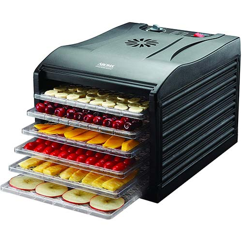 5. Aroma Housewares Professional 6 Tray Food Dehydrator