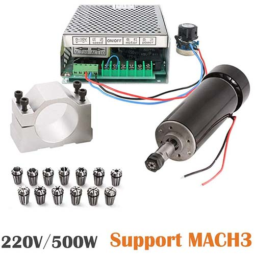 7. CNC Spindle 500W Air Cooled 0.5kw Milling Motor and Spindle Speed Power Converter