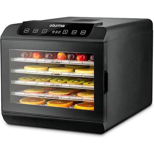 1. Gourmia GFD1680 Countertop Electric Food Dehydrator
