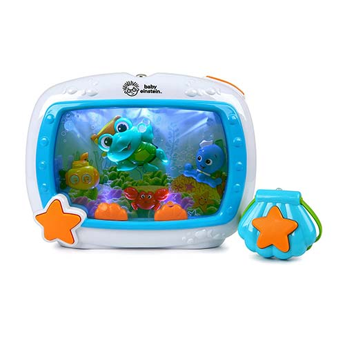 1. Baby Einstein Sea Dreams Soother Musical Crib Toy and Sound Machine