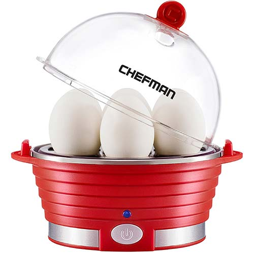 10. Chefman Electric Egg Cooker Boiler