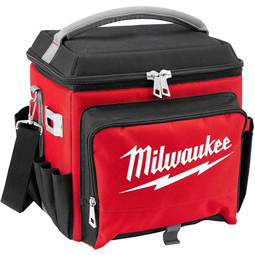 4. Milwaukee Electric Tool 48-22-8250 Sided Jobsite Cooler, Polyester, 11.1