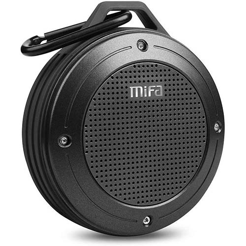 6. Bluetooth Speaker, MIFA F10 Portable Speaker with Enhanced 3D Stereo Bass Sound