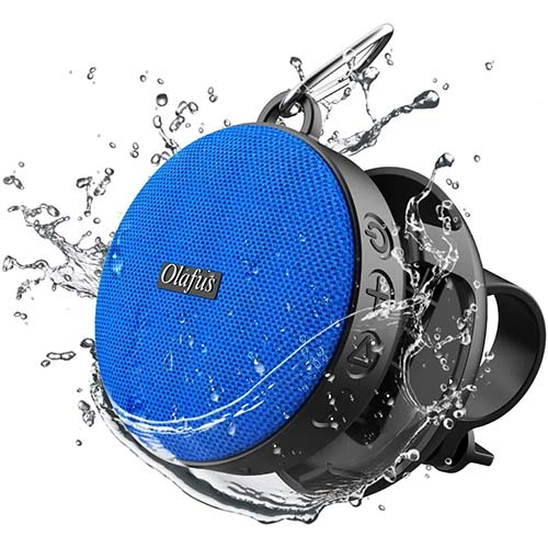5. Olafus Bluetooth Bike Speaker with Detachable Bicycle Mount, IPX7 Waterproof