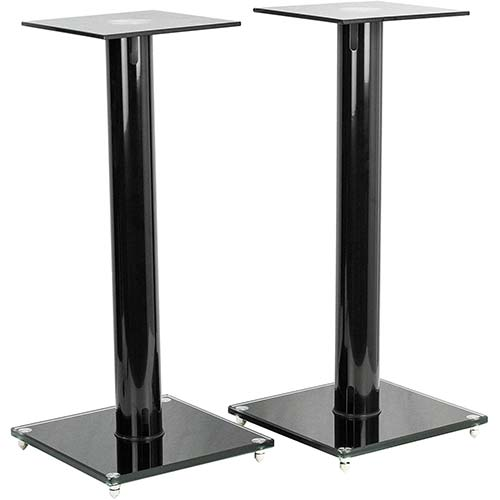 4. VIVO Premium Universal 23 inch Floor Speaker Stands for Surround Sound and Book Shelf Speakers