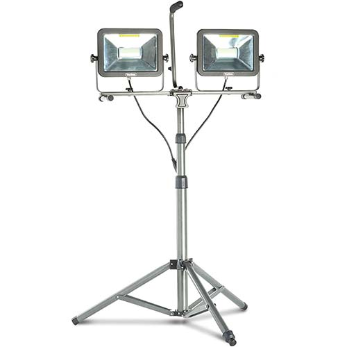 8. VonHaus Two-Head 10000 Lumen LED Work Light with Detachable Metal Lamp Housing, Metal Telescopic Tripod Stand